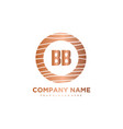 bb initial letter circle wood logo template vector image vector image