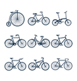 Bicycle icons3 vector image vector image