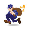 bitcoin cyber thief vector image