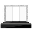 black color flat style stage with scenes back vector image vector image