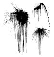 Black ink splash on the white vector image vector image