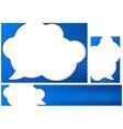 blue design pop art background vector image