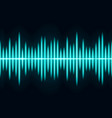 blue sound wave light wave effect vector image