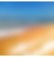 Blurred background Sea and sun vector image vector image