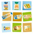 bread and crackers vector image vector image