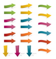 bright arrows vector image vector image
