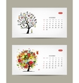 Calendar 2015 november and december months Art vector image