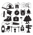 Camping Icons Collection vector image vector image