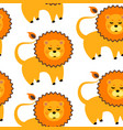cartoon lion pattern vector image vector image