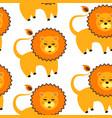 cartoon lion pattern vector image vector image