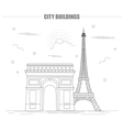 City buildings graphic template France Paris vector image vector image