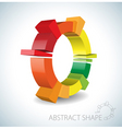 Colorful abstract 3d shape vector | Price: 1 Credit (USD $1)