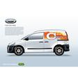 commercial vehicle-van template sample logo vector image vector image