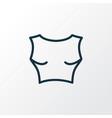 cropped top icon line symbol premium quality vector image vector image