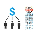 Crowdfunding Icon With 2017 Year Bonus Pictograms vector image vector image