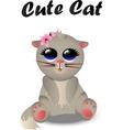 Cute cat pattern vector image