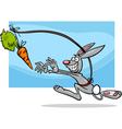 dangling a carrot saying cartoon vector image vector image