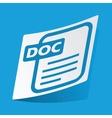 DOC file sticker