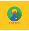 Doctor Icon Logo Health Tools or Tooth vector image