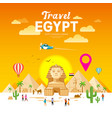 egypt travel people pyramid design vector image