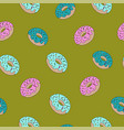 fashion seamless pattern with sweet food donuts vector image vector image