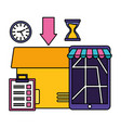 fast delivery business vector image vector image
