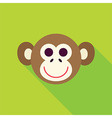 Flat Design Monkey Face Icon vector image vector image