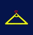 flat shading style icon hanger vector image