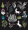 floral set botany vector image vector image