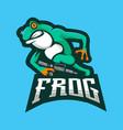 frog gaming logo vector image vector image