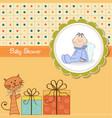 funny cartoon baby shower card vector image