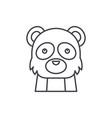 funny panda line icon concept funny panda vector image