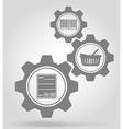 gear mechanism concept 10a vector image vector image