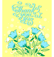 grateful card in doodle style with flowers vector image vector image