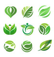 green leaf ecology nature for health vector image vector image