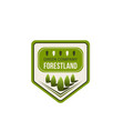 green nature eco park badge with ecology tree vector image vector image