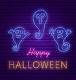 happy halloween party bright signboard vector image vector image