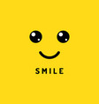 happy smile smiling face on yellow background vector image vector image