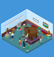 historical museum isometric vector image vector image