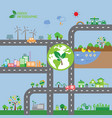 infographic green ecology city vector image