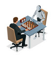 isometric chess game with artificial intelligence vector image vector image