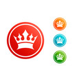 king crown set vector image