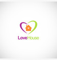 love house colored business logo vector image vector image