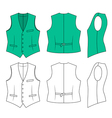 Man green waistcoat vector | Price: 1 Credit (USD $1)