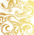 Marble texture Golden liquid metal Design marble vector image