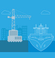 maritime shipping and logistics vector image vector image