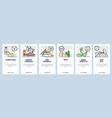mobile app onboarding screens asian noodle meals vector image vector image