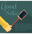 Monopod Selfie man Self Portrait Tool For vector image vector image