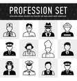 occupation icons mono symbols vector image