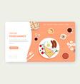 online food market website landing page vector image vector image